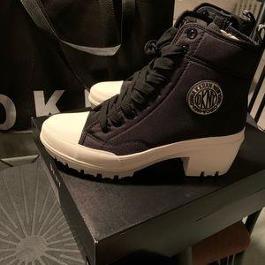 Sold. DKNY Pandie Lug Boots